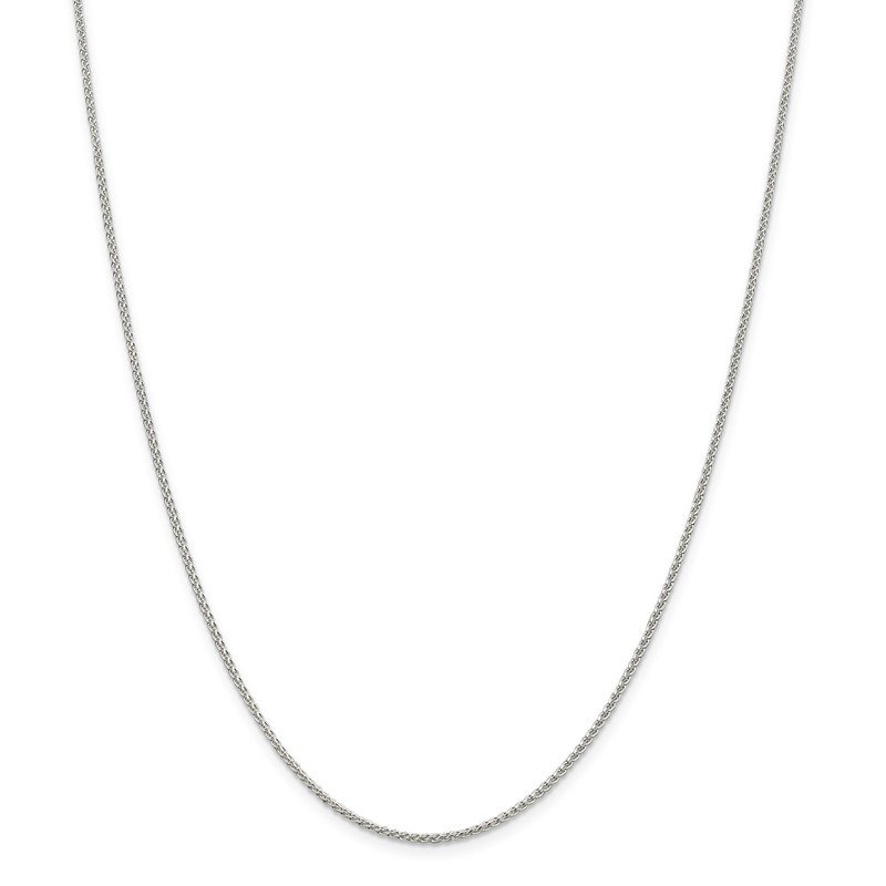 Quality Gold Sterling Silver 1.5mm Round Spiga Chain