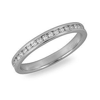 925 SS and CZ Eternity Ring in Channel Setting 1/2 Cts
