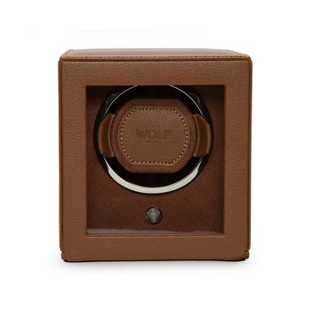 Cognac Leather Cub Winder with Cover