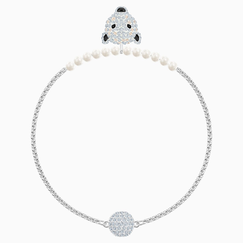 Polar Bestiary Bracelet, White, Rhodium plated