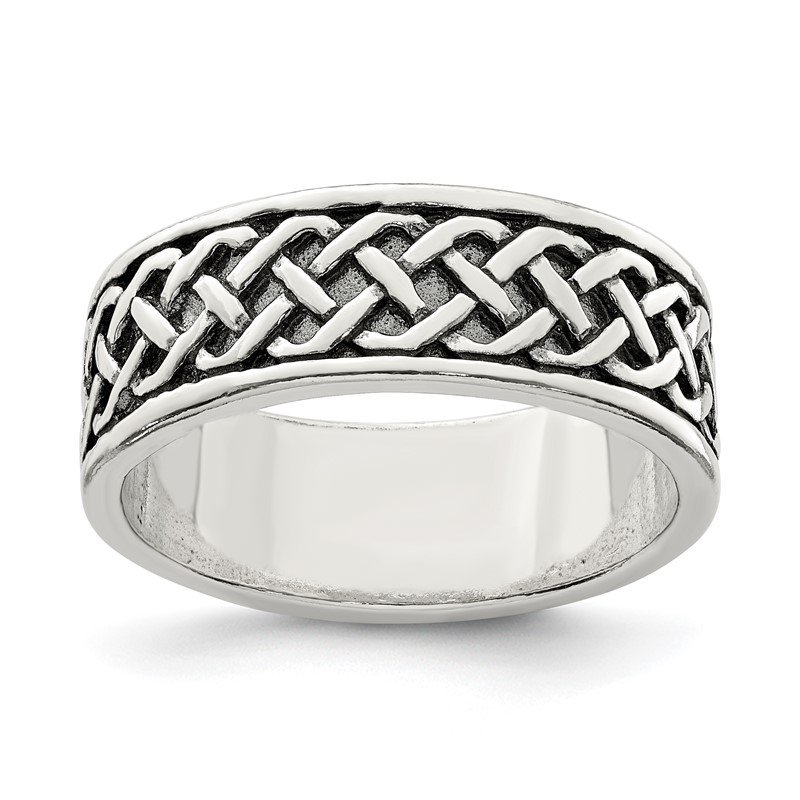 Quality Gold Sterling Silver Weave Design Ring