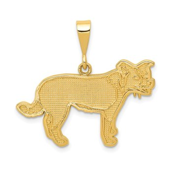 14k Border Collie Pendant
