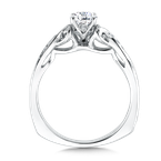 Valina Bridals Mounting with side stones .10 ct. tw., 1/2 ct. round center.