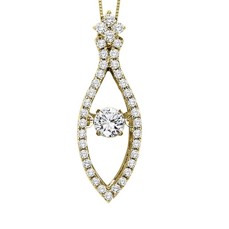 Rhythm of Love 14KY Diamond Rhythm Of Love Pendant 1/2 ctw