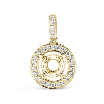 Diamond Pendant For.50ct Round Stone
