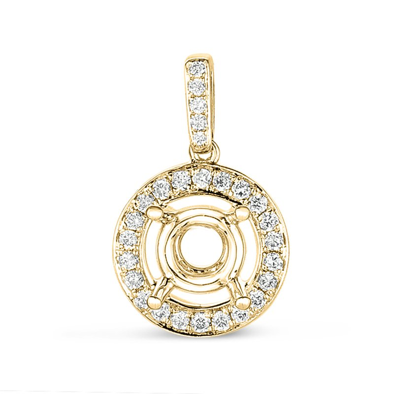 S. Kashi  & Sons Diamond Pendant For.50ct Round Stone