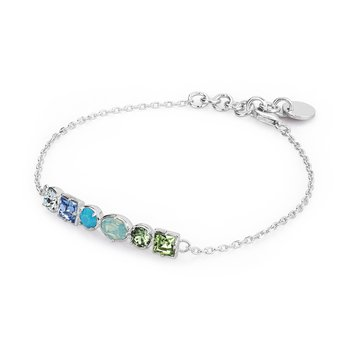 925‰ sterling silver and coloured Swarovski® Elements crystals.