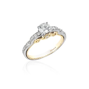 14KWY 1.00CTW Cinderella Carriage Ring