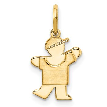 14k Mini Boy Kiss Charm