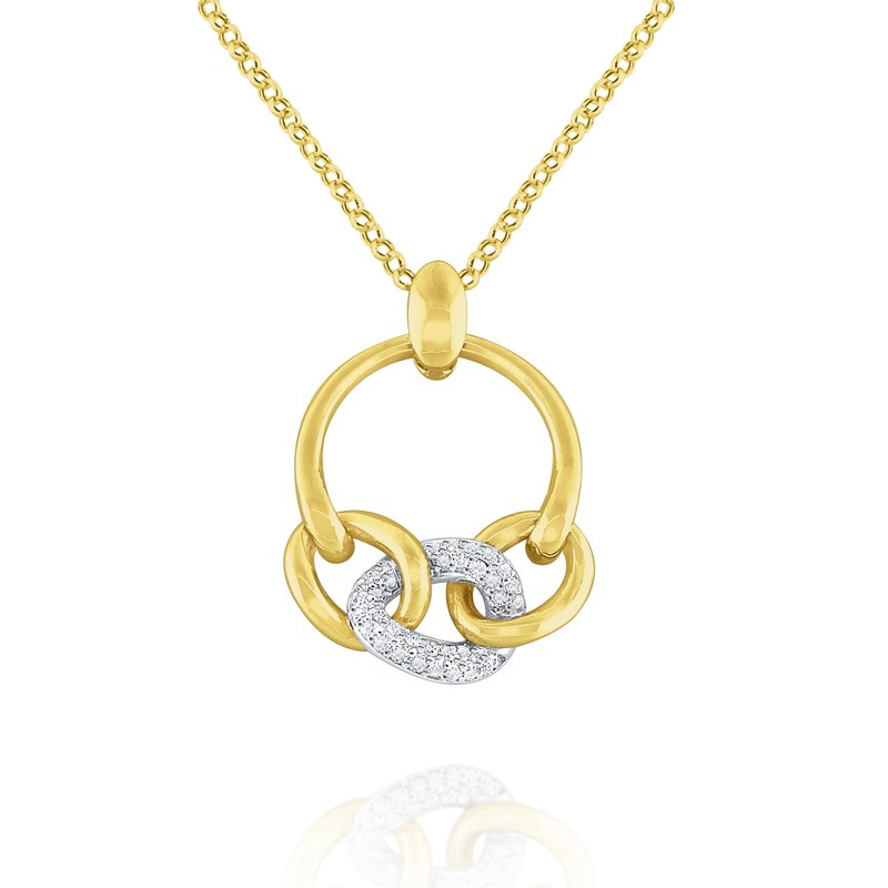 KC Designs 14k Gold and Diamond Bold Link Necklace
