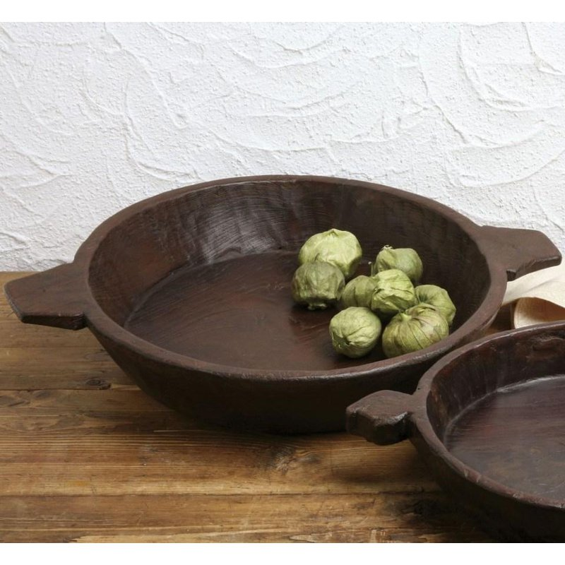 Casafina Large Hand Carved Wooden Bowl