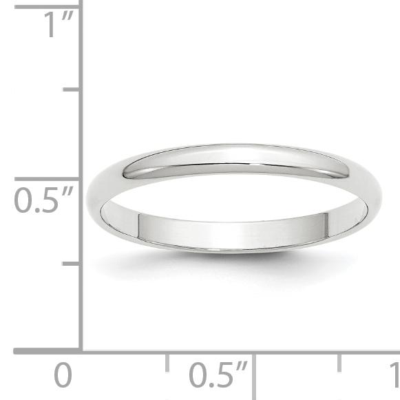 Best Designer Jewelry 14KW 2.5mm Half Round with Edge Band Size 5