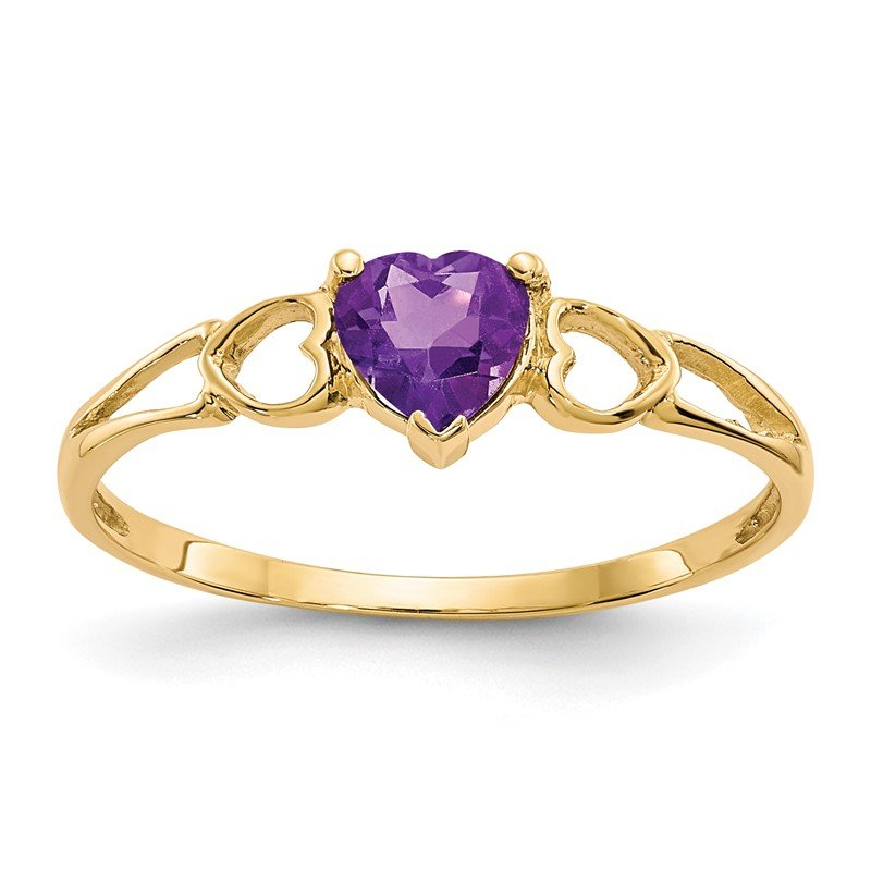 J.F. Kruse Signature Collection 14k Amethyst Birthstone Ring