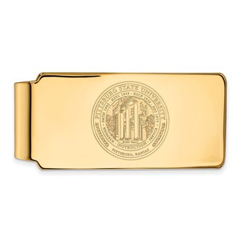 Gold Pittsburg State University NCAA Money Clip