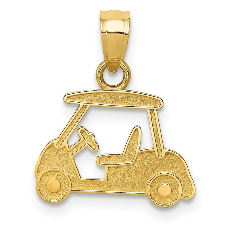 Quality Gold 14k Golf Cart Charm