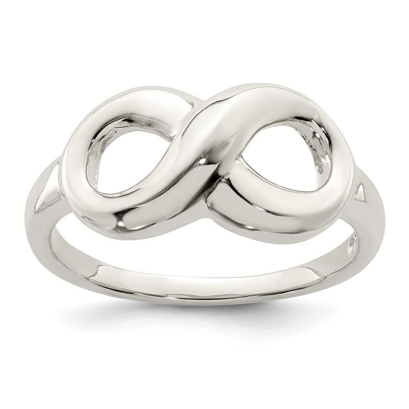 Quality Gold Sterling Silver Polished Infinity Ring