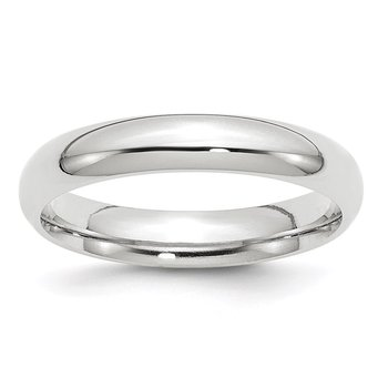 14k White Gold 4mm Comfort-Fit Band