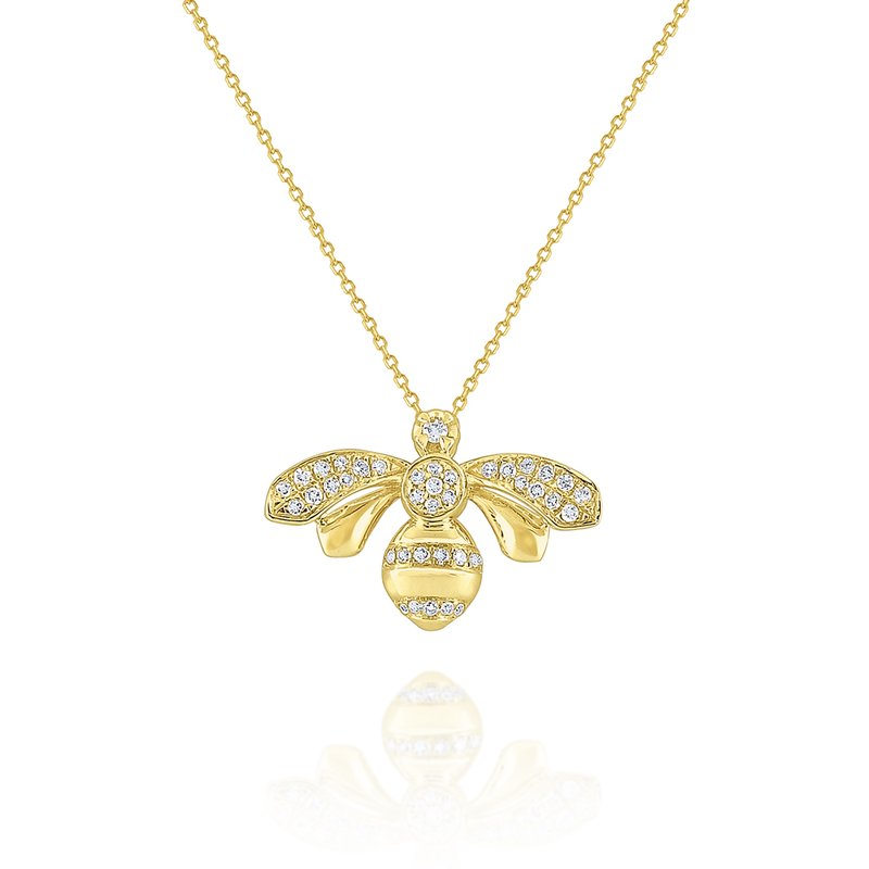 KC Designs 14k Gold and Diamond Honeybee Necklace