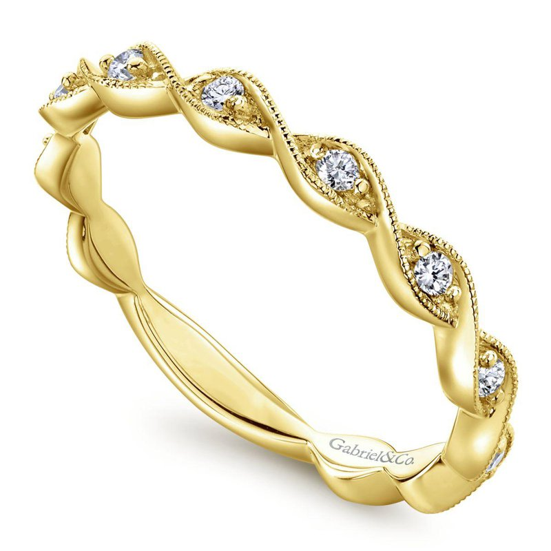 Gabriel Fashion 14K Yellow Gold Fashion Ladies Ring