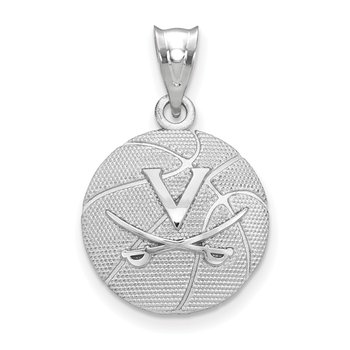 Sterling Silver University of Virginia NCAA Pendant