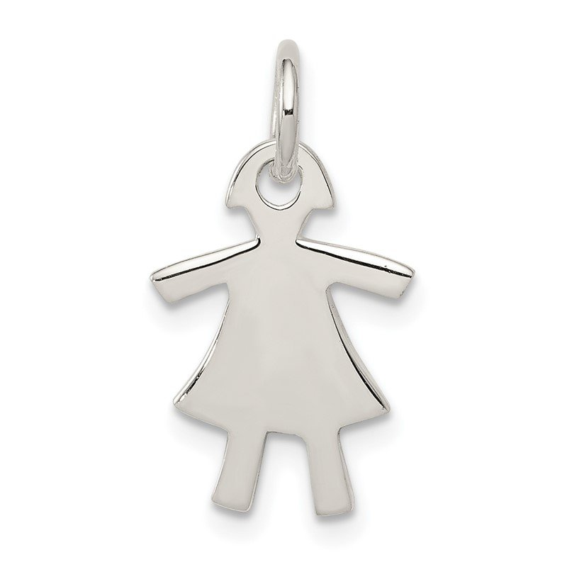 Quality Gold Sterling Silver Girl Charm