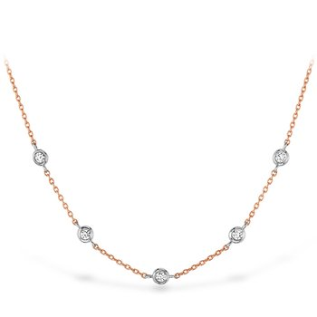0.08 ctw. HOF Signature Off-Set Five Bezel Necklace