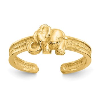 14K Elephant Toe Ring