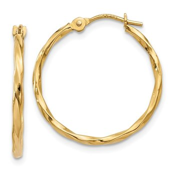14k Twist Hoop Earrings