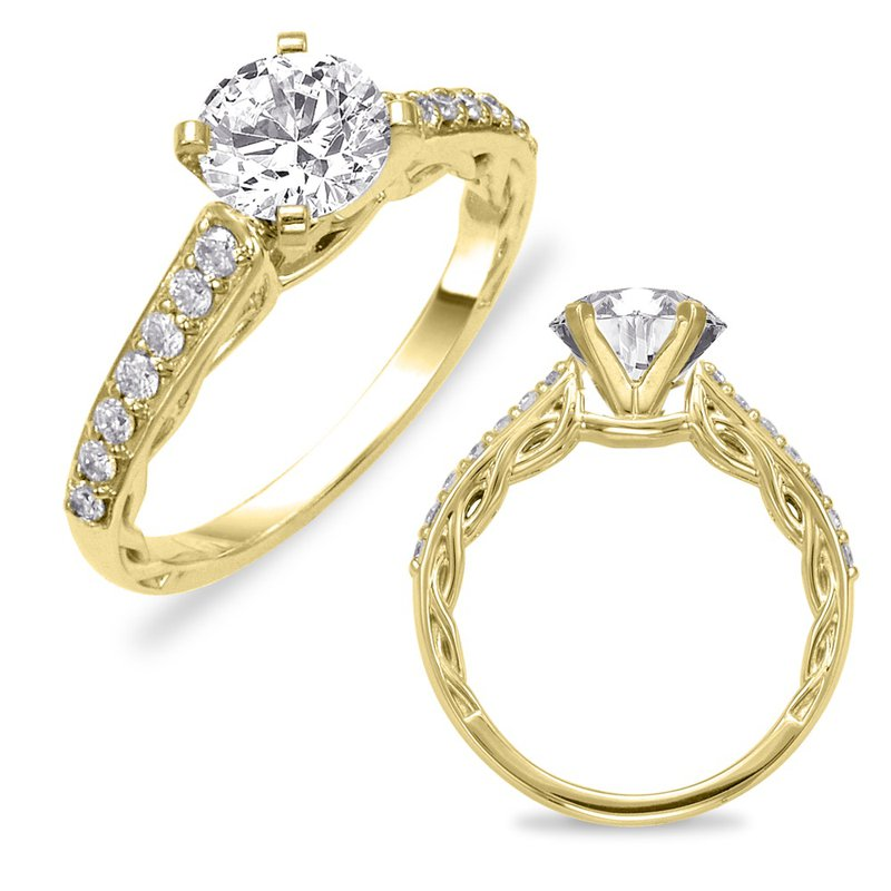 S. Kashi & Sons Bridal Yellow Gold Semi Mounting