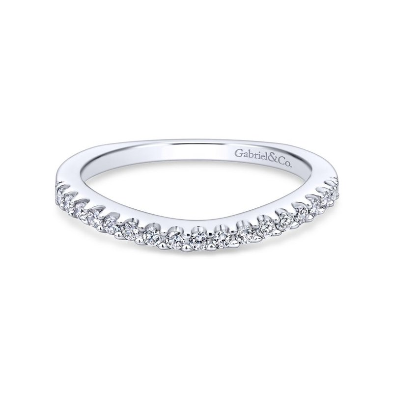 Gabriel Bridal 14K White Gold Matching Wedding Band