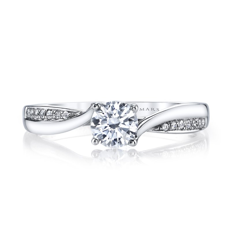 MARS Jewelry Diamond Engagement Ring 0.05ct tw
