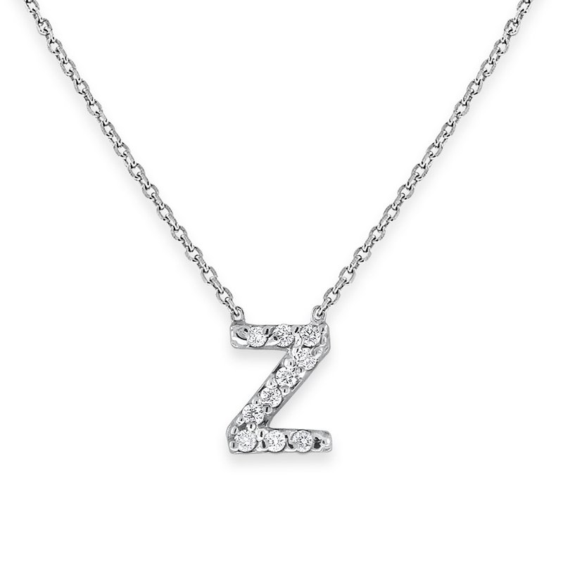 KC Designs Diamond Bitty Block Initial Z Necklace