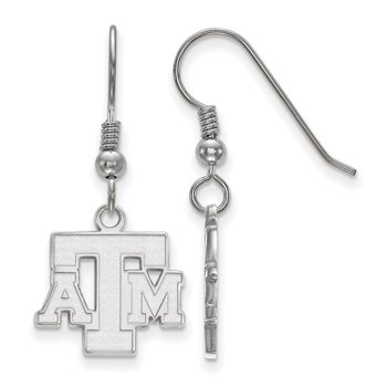 Sterling Silver Texas A&M University NCAA Earrings