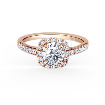 Modern Halo Diamond Engagement Ring