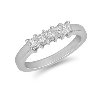 14K WG Princess Diamond Ring