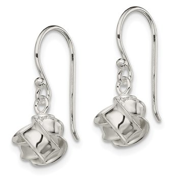 Sterling Silver Knot Dangle Earrings