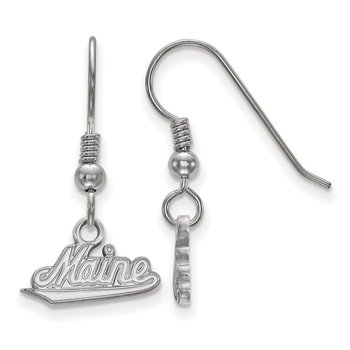 Sterling Silver University of Maine NCAA Earrings
