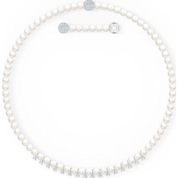 Treasure  Pearls Necklace, White, Rhodium plated