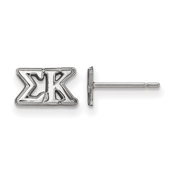 Sterling Silver Sigma Kappa Greek Life Earrings