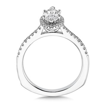 Marquise shape halo mounting  .20 ct. tw.,  1 ct. marquis center.