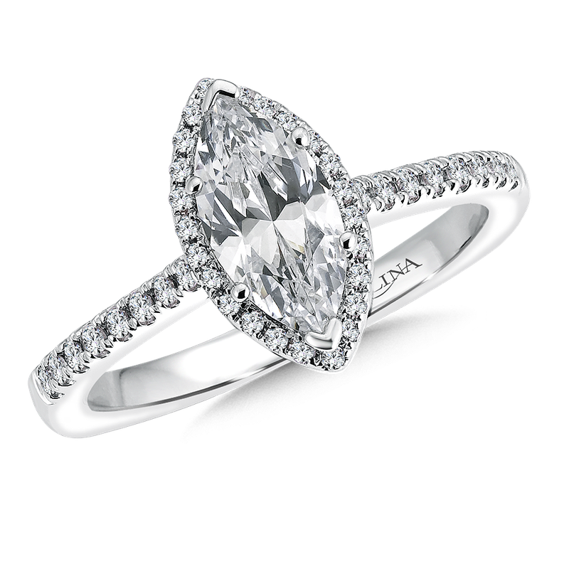 Valina Marquise shape halo mounting  .20 ct. tw.,  1 ct. marquis center.
