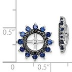 Arizona Diamond Center Collection Sterling Silver Rhodium Created Sapphire & Black Sapphire Earring Jacket