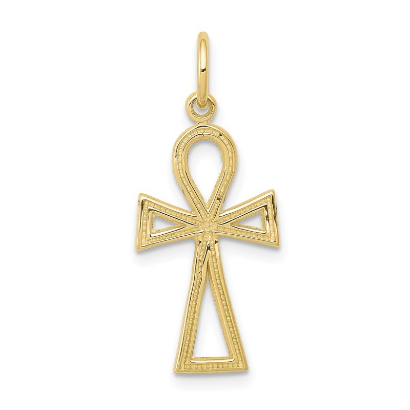 Quality Gold 10K Ankh Cross Charm