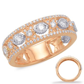 Rose & White Diamond Fashion Ring