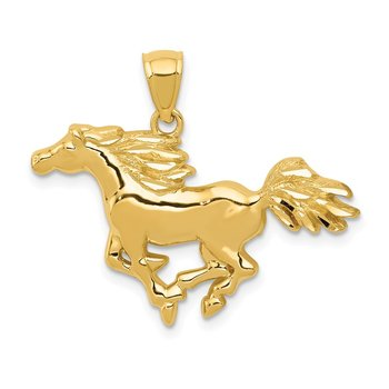 14k Polished Horse Pendant
