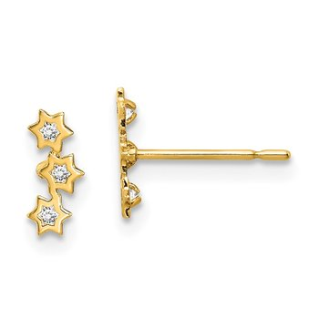 14k Madi K Stars CZ Earrings