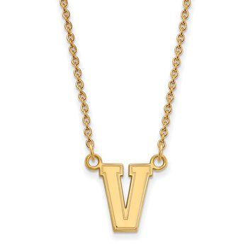 Gold-Plated Sterling Silver Vanderbilt University NCAA Necklace