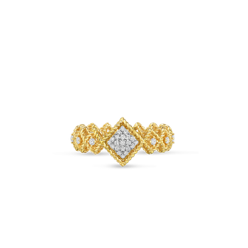 18KT GOLD CENTER DIAMOND BAND