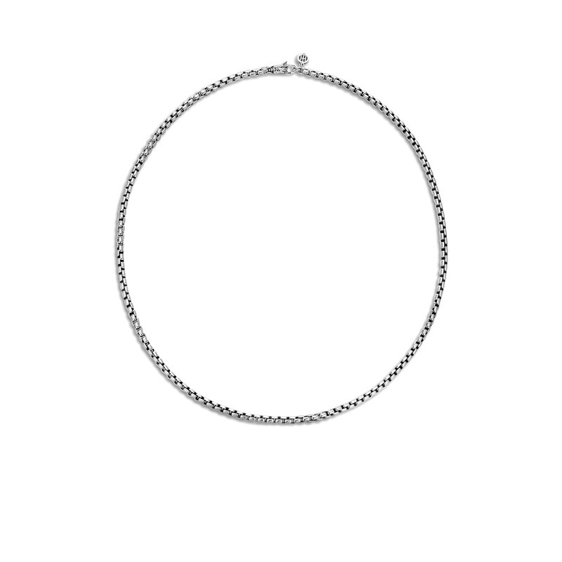 John Hardy 3.7MM Box Chain Necklace in Silver