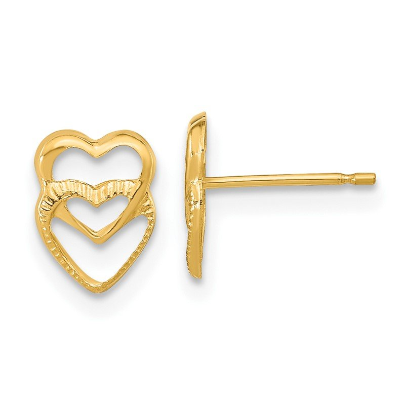 Quality Gold 14k Madi K Hearts Post Earrings